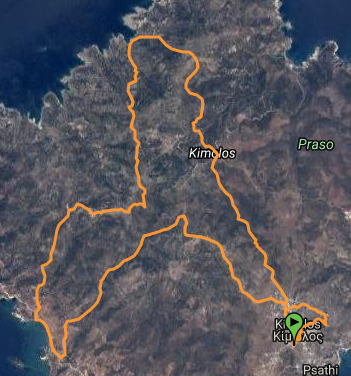 Kimolos Trail 21km map